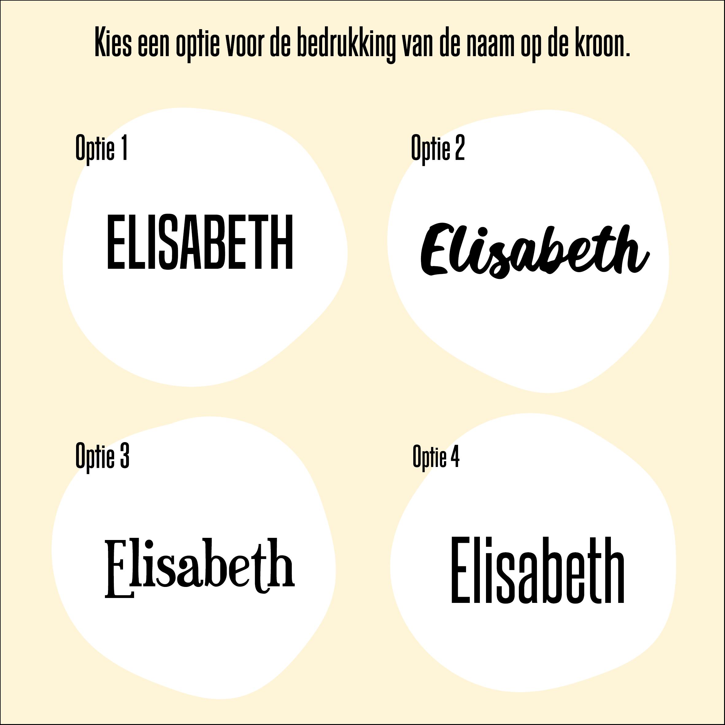 Overzicht lettertypes